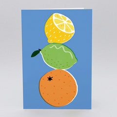 Wrap - Greeting Card - Citrus Fruits