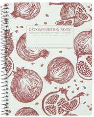 Decomposition - Spiral Bound Notebook - Large - Ruled - Pomegranates