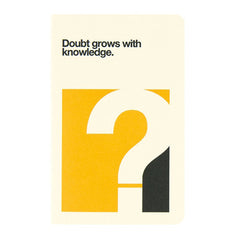 "Ogami Quotes Notebook - Plain - Mini - ""Doubt grows with knowledge"""