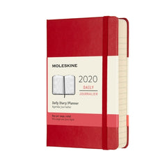 Moleskine - 2020 Hard Cover Diary - Daily - Pocket (9x14cm) - Scarlet Red