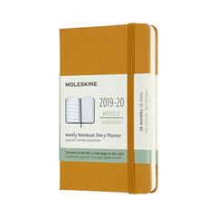 Moleskine - 2020 Hard Cover Diary - Weekly Notebook - Pocket (9x14cm) - Ripe Yellow