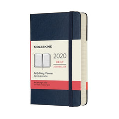 Moleskine - 2020 Hard Cover Diary - Daily - Pocket (9x14cm) - Sapphire Blue