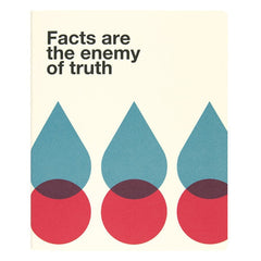 "Ogami Quotes Notebook - Ruled - Regular - ""Facts are the enemy of truth"""