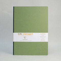 Clairefontaine Notebook - Essentials - Clothbound - A4 - Plain - Green