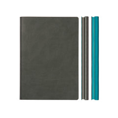 Daycraft Signature Duo Notebook - A5 - Grey/Blue