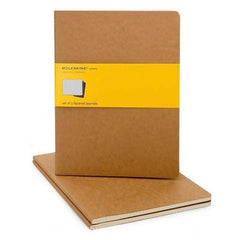 Moleskine Notebook - Cahier - Set of 3 - Extra Large - Squared - Kraft