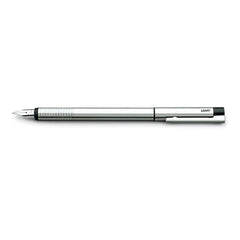 Lamy Logo Fountain Pen - Brushed Stainless Steel/Black