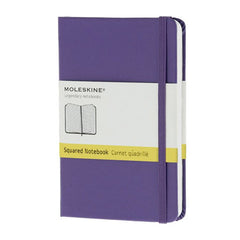 Moleskine Classic Notebook - Squared - Pocket - Hardcover - Brilliant Violet