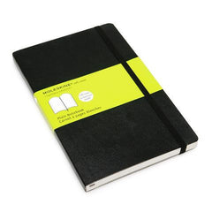 Moleskine Classic Notebook - Plain - Large - Softcover - Black