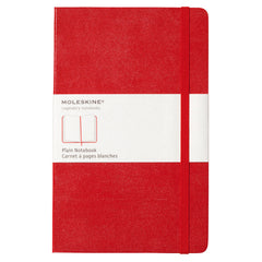 Moleskine Classic Notebook -  Plain - Large - Hardcover - Red