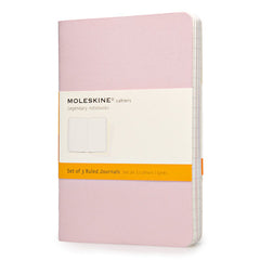 Moleskine Notebook - Cahier - Set of 3 - Pocket - Ruled - Pastel Colours