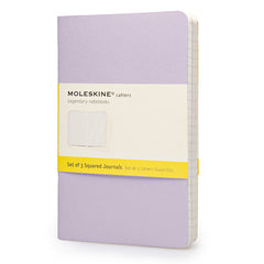 Moleskine Notebook - Cahier - Set of 3 - Pocket - Squared - Pastel Colours