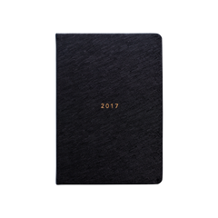 Mi Goals - 2017 Weekly Diary - A5 - Soft Cover - Black