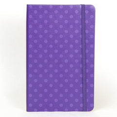 Moleskine Patterned Notebook - Ruled - Large - Hardcover - Purple Dots