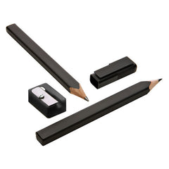 Moleskine Writing - Black Pencils - Set of 2 with Sharpener & Cap