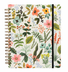 Rifle Paper Co - 2017-2018 17 Month Spiral Bound Planner - Weekly - Large (21x26cm) - Herb Garden