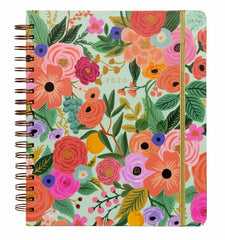 Rifle Paper Co - 2020 - 17 Month Spiral Planner - Weekly + Monthly - Large - Garden Party