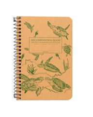 Decomposition Spiral Notebook - Sea Turtles - Pocket - Ruled