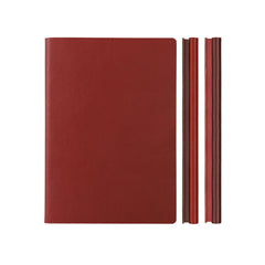 Daycraft Signature Duo Notebook - A5 - Red/Burgundy