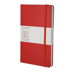 Moleskine Classic Notebook - Squared - Large - Hardcover - Red