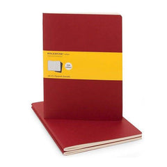 Moleskine Notebook - Cahier - Set of 3 - Extra Large - Squared - Red