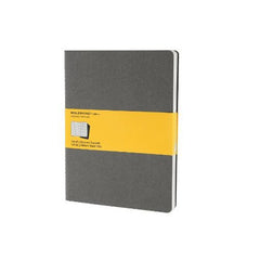 Moleskine Notebook - Cahier - Set of 3 - Extra Large - Squared - Grey