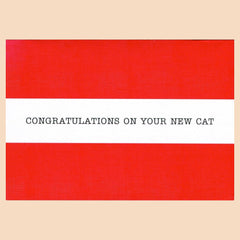 Things by Bean - 'Congratulations On Your New Cat' Card