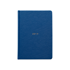 Mi Goals - 2017 Weekly Diary - A5 - Hard Cover - Navy