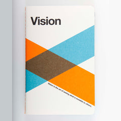 "Ogami Quotes Notebook - Plain - Mini - ""Vision"""