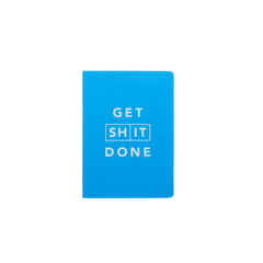 Mi Goals - Get Shit Done - Classic A6 - Lined Notebook - Blue
