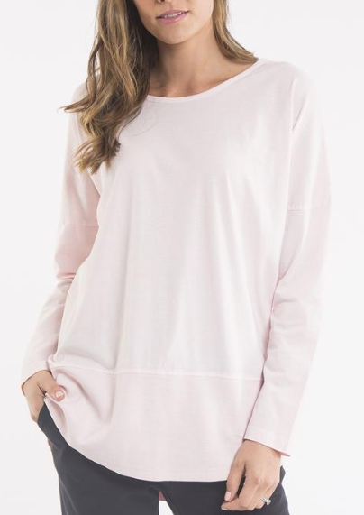 Fundamental Rib L/S Tee Peach