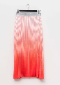 Pleated Skirt Watermelon/White