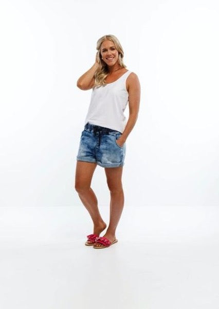 Lagoon Denim Cut Offs Snow Wash