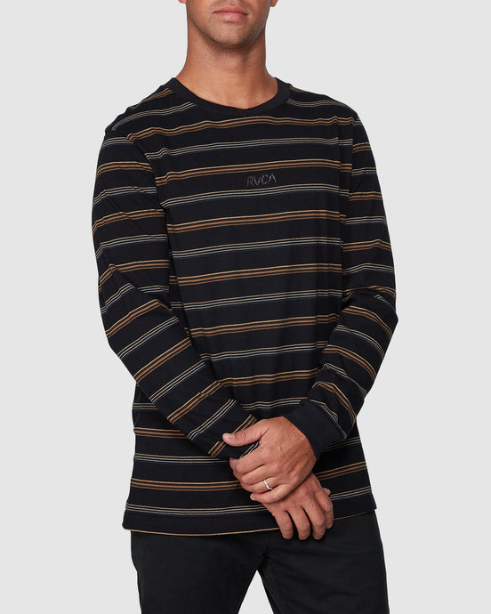 Merc Stripe LS Te Black