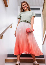 Load image into Gallery viewer, Pleated Skirt Watermelon/White