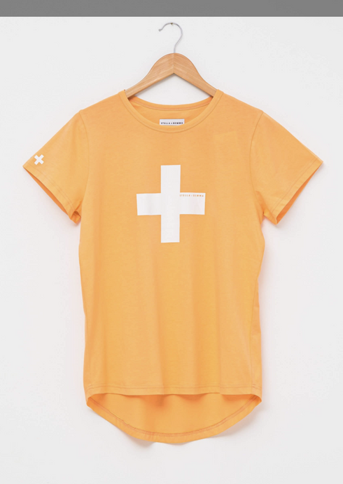 Papaya White Cross T Shirt