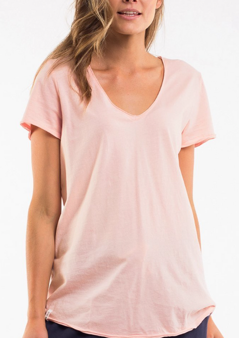 Fundamental Vee Tee Pink