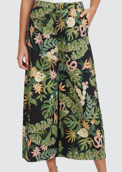 So Tropical Pant Black