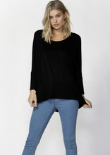 Load image into Gallery viewer, Milan 3/4 Sleeve Top Black