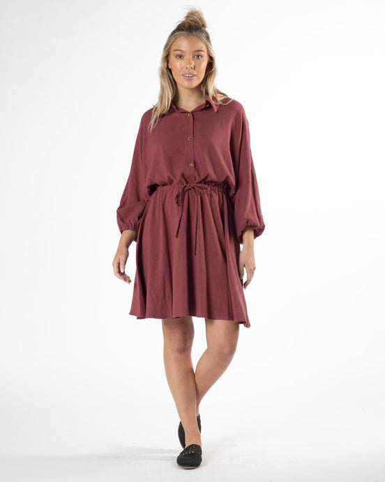Rainey Dress Dusty Plum