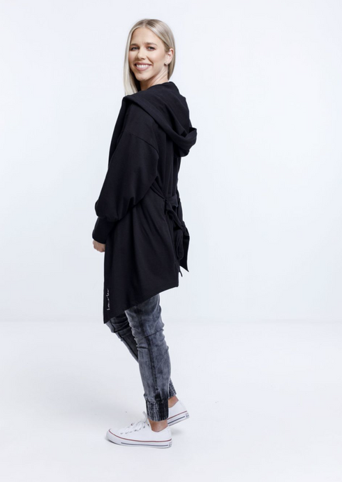 Wrap Coat Black