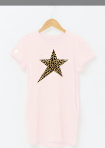 Lola dress Rosewater Leopard Star