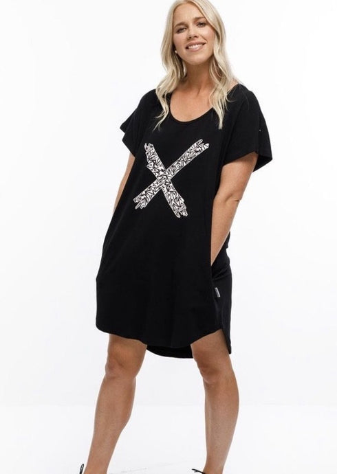 Jack Dress With Paper Plane X Print
