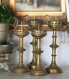 Church Brass Candlesticks, tall, Set of 2
