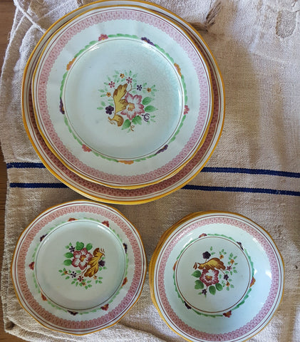 Hand-painted English Dishes