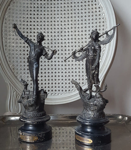 French Statues, set of 2