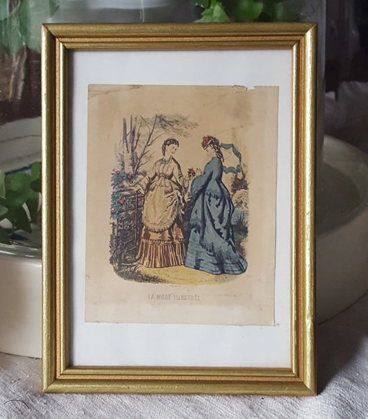 Framed French Fashion Print