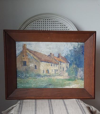 Old Manse Oil Painting