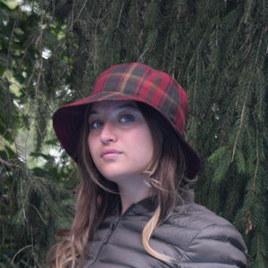 Puffin Gear Maple Leaf Tartan Crusher Hat-Made in Canada
