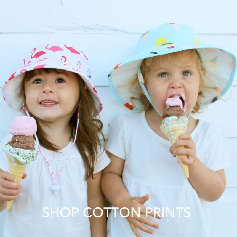 Puffin Gear Child Wide Brim Sunbaby Sun Protection Hat-UPF50-Made in Canada-Perfect for Eating Triple Scoop Ice Cream Cones on a Hot Summer Day